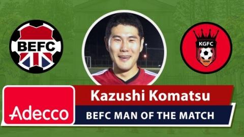 Adecco BEFC Man of the Match Award - Kazushi Komatsu