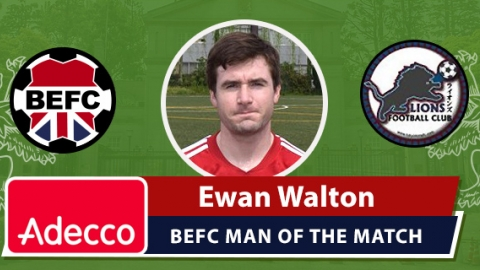 Adecco BEFC Man of the Match Award - Ewan Walton