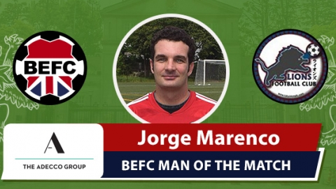 Adecco BEFC Man of the Match Award - Jorge Marenco