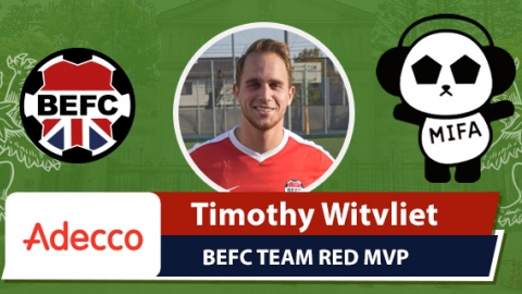 Adecco BEFC Red Team MIFA Embassy Cup MVP- Timoth Witvliet