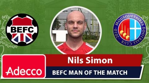 Adecco BEFC Man of the Match Award - Nils Simon