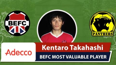 Adecco BEFC Most Valuable Player vs Panthers - Kentaro Takahashi