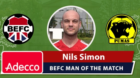 Adecco BEFC Man of the Match Award - Nils Simon