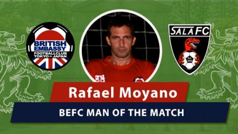 BEFC vs Sala FC - Man of the Match Rafael Moyano