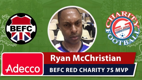 Adecco BEFC Man of the Match Award - Ryan McChristian