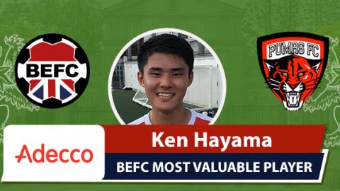 Adecco BEFC MVP vs Pumas - Ken Hamaya