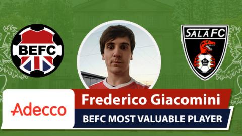 Adecco BEFC MVP vs Sala FC - Frederico Giacomini
