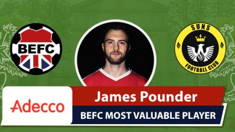 Adecco BEFC MVP vs SUNS - James Pounder