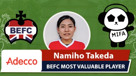 Adecco BEFC Most Valuable Player MIFA - Namiho Takeda