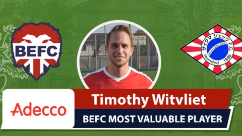 Adecco BEFC Most Valuable Player - Timothy Witvliet