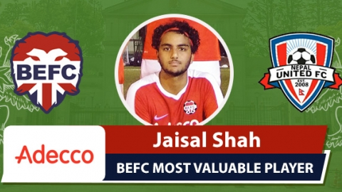 Adecco MVP BEFC Lions vs Nepal FC - Jaisal Shah